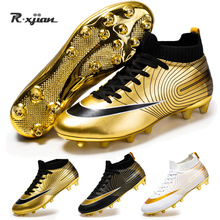 Soccer-Shoes Cleats Football-Boots Sport-Sneakers Futsal Turf FG Training Kids Indoor