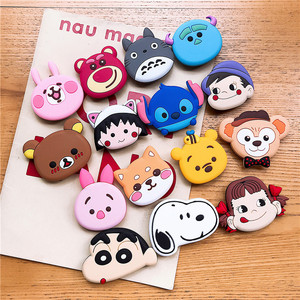 Image 5 - Universal socket phone Stand bracket airbag Expanding Stand stretch grip phone Holder Finger Cute cartoon stand car phone Holder