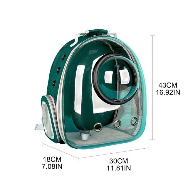 Фото панорамный прозрачный легкий рюкзак переноска для домашних животных