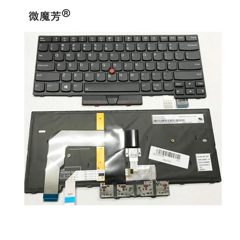 English Backlit Keyboard For Lenovo Thinkpad T470 T480 A475 A485 01AX569 01AX487 01AX528 01HX419 US