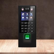 Лицо пароль отпечатков пальцев посещаемость времени машина проверка сотрудников ЖК-экран рекордер постоянного тока 12В посещаемость времени, U-диск