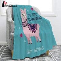 Miracille Nette Cartoon Alpaka Flanell Decke Für Komfortable Warm Geburtstag Geschenk Für Kinder