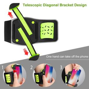 Image 3 - Nohon Phone Armband for iPhone 11 Pro Max Sport Armbands Universal Phone Holder for Running Arm Bands for 4 6.5inch Cell Phones