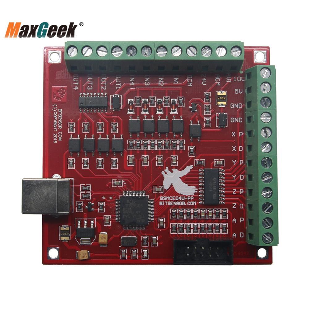 Maxgeek USB MACH3 ЧПУ контроллер 100 кГц Breakout плата 4-осевой интерфейс драйвер контроллер движения из Китая немецкий склад
