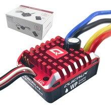 Hobbywing quicrun 1:10 1/8 wp rastreador escova escovado 80a 1080 controlador de velocidade eletrônico esc à prova desc água com caixa programa led bec