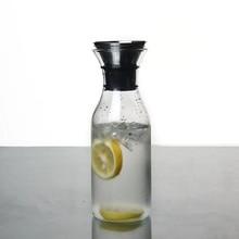 Glass Cold Kettle Bottle Water Pot Transparent Heat Resistant Juice Teapot Pitcher Water Jug Soft Drinkware Ice Dispenser Jarra