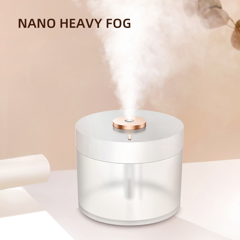 Wireless Ultrasonic Humidifier USB Rechargeable 780ml Aroma Diffuser Battery Powered Humidifier With Atmosphere Lamp Mist Maker
