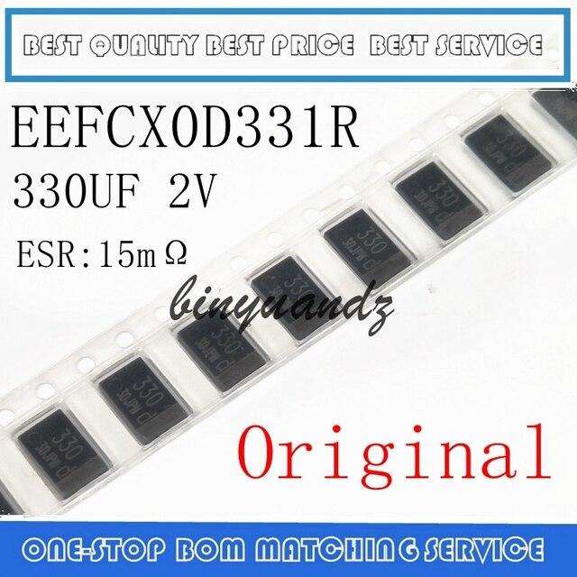 50 Stuks 100 Stuks 200 Stuks EEF CX0D331R EEFCX0D331R 330 Uf 2V 2.5V Smd Tantaal Polymeer Condensatoren, polymeer Capaciteit