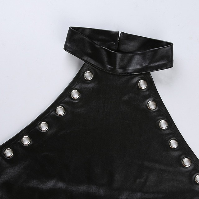 Porno Corset Sexy Leather Lingerie Women Rivet Backless Underwear Sexy Erotic Babydoll Teddy Costumes Sex Langerie Plus Size 4XL 6