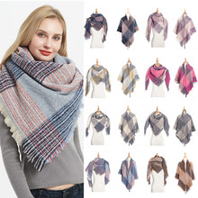 2019 Kaguster Blanket Scarf Winter Plaid Scarfs Women Shawl Womens Mujer Shawls Cashmere Warm Plus Size Bib Autumn Square