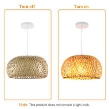 Nordic Ratta Lamp Handgemaakte Hanglamp Bamboe Kroonluchter Retro Tuin Restaurant Cafe Bar Lounge Verlichting Decoratieve Lamp