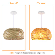 Nordic Ratta Lamp Handmade Pendant Lamp Bamboo Chandelier Retro Garden Restaurant Cafe Bar Lounge Lighting Decorative Lamp