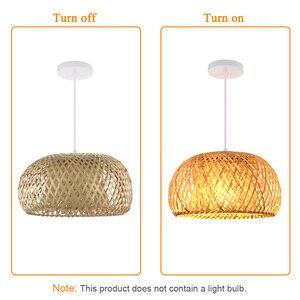 Image 1 - Nordic Ratta Lamp Handmade Pendant Lamp Bamboo Chandelier Retro Garden Restaurant Cafe Bar Lounge Lighting Decorative Lamp