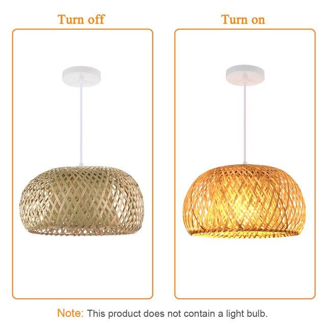Nordic Ratta Lamp Handmade Pendant Lamp Bamboo Chandelier Retro Garden Restaurant Cafe Bar Lounge Lighting Decorative Lamp