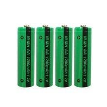 4 PKCELL AA NiMH Pin Sạc Lại Aa 1200MAh 1.2V Ni MH Công Nghiệp Pin Bateria Nút Top