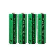 4個pkcell aaニッケル水素充電式バッテリーaa 1200mah 1.2vニッケル水素産業用バッテリーbateriaボタントップ