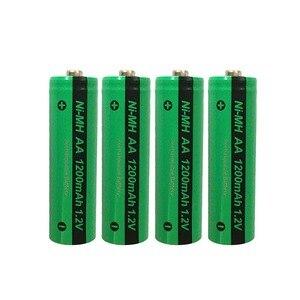 Image 1 - 4pcs PKCELL AA NiMH 충전식 배터리 aa 1200mAh 1.2V Ni MH 산업용 배터리 Bateria Button Top