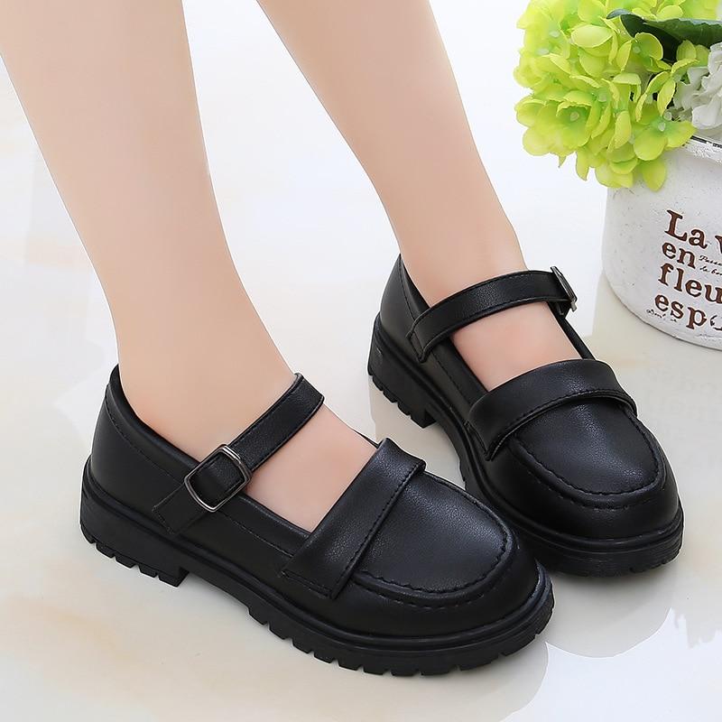 meninas sapatos de couro menina vestido criancas 05