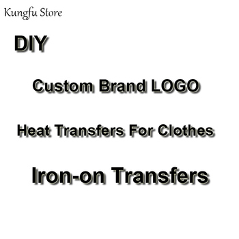 DIY Custom Brand LOGO Patches On Clothes Iron On Transfers For Clothes Heat Transfer Vinyl Sticker Thermal Transfers Washable diy custom brand logo patches for clothes iron on transfers for t shirt heat transfer vinyl sticker thermal transfers applique