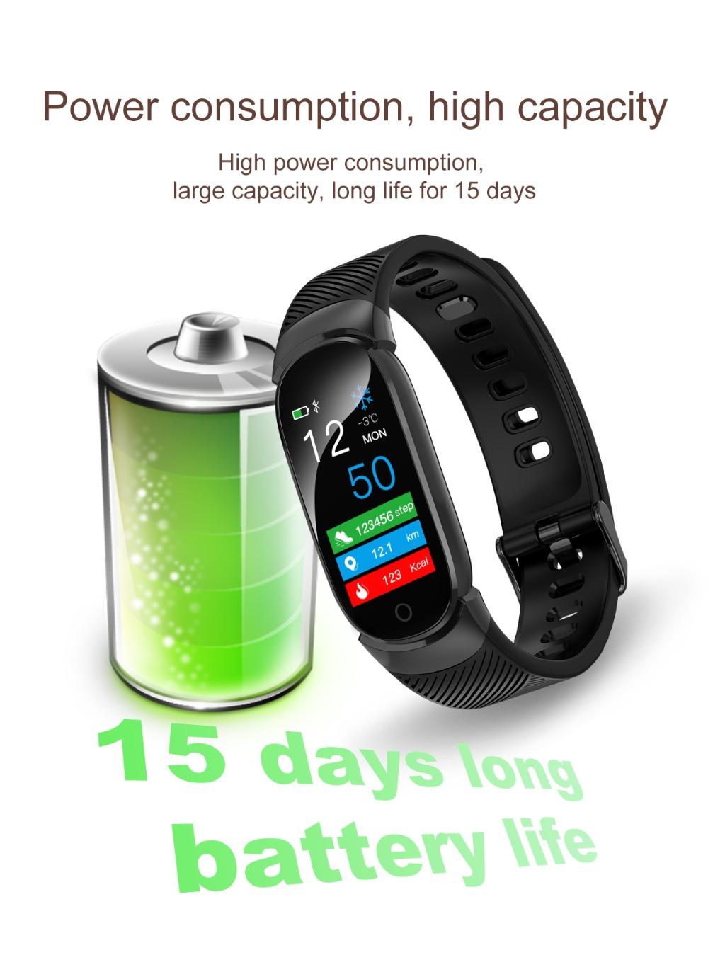 QW16 Smart Band Heart Rate Tracker Fitness Tracker Smartband Smart Bracelet Waterproof Smart Wristband Smart Watch pk mi band 3 (14)