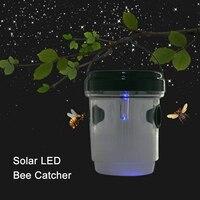 Солнечная уличная ловушка для ОС с ультрафиолетом светодиодный Ловец света убийца для пчелы Hornets Bugs мух FP8