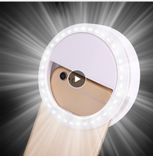 Makeup Mirror Selfie LED Ring Flash Light Portable Artifact Pro Lady 36 LEDS Beads Beauty Tools Photo fill light
