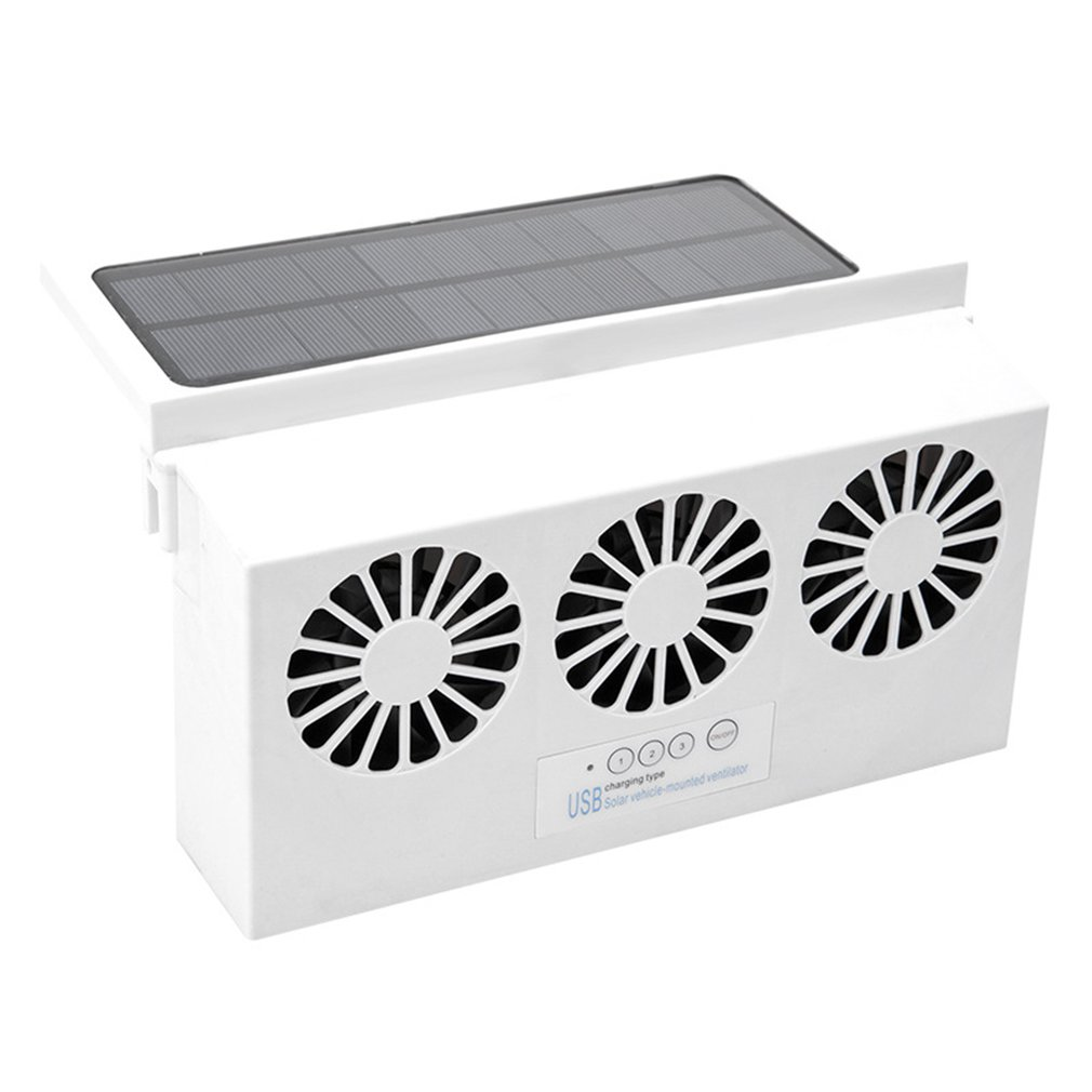 Car Fan Solar Window Sun Powered Car Auto Air Vent  Cool Cooling  System Radiator Fan  Cooling Fan  Energy Saving