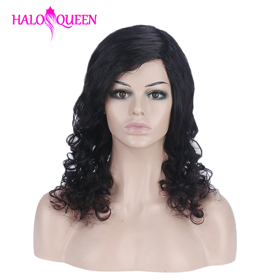 Body Wave Wig Peruvian Hair 130% Density Remy Hair Mid-Length Wig Human Hair Wigs For Women Natural Color Full Machine Made Wigs