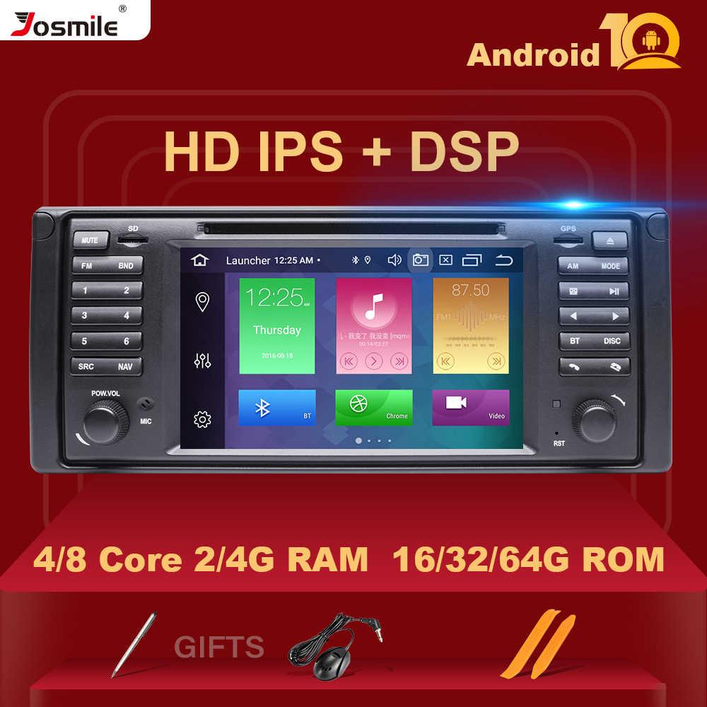 4GB 64G IPS DSP 1 DIN Android 10 DVD Xe Hơi Cho Xe BMW X5 E53 E39 GPS Stereo âm Thanh Điều Hướng Đa Phương Tiện Màn Hình Đầu Unit8 Core