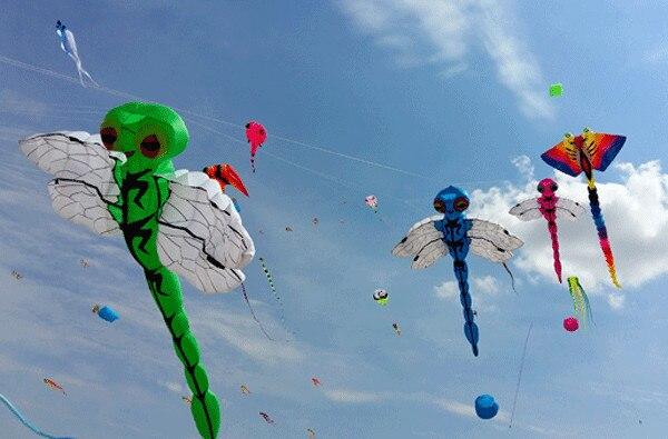 Nouveau grand cerf-volant gonflable libellule cerf-volant festival - 2