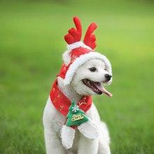 Милый шарф для питомца, шапка, съемная зимняя теплая шапка для праздника, Рождественский день, украшение для собаки, милые домашние собаки, товары