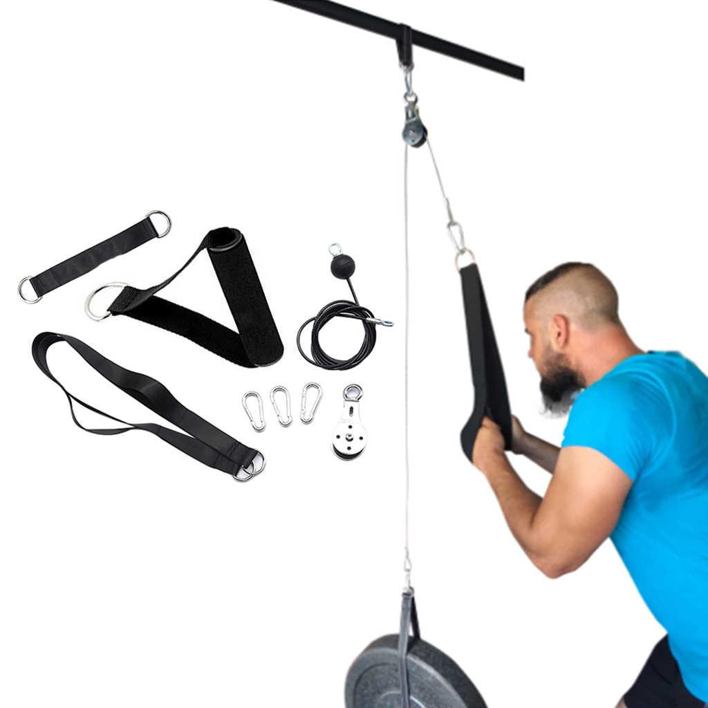 Fitness DIY Pulley Kabel Maschine System Befestigung DIY Wiegen Laden Pin  Arme Unterarm Strength Training Gym Workout Ausrüstung