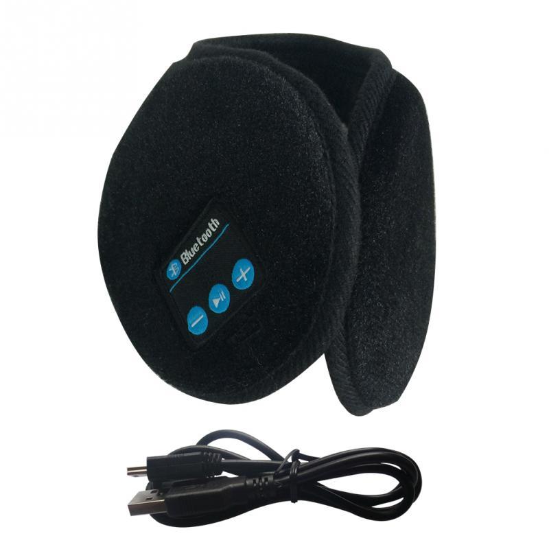 Winter Ear Warmer Music Bluetooth Earmuffs Women Men Warm Foldable Earmuff For Skiing Hiking Walking Running Built-in Speaker #2