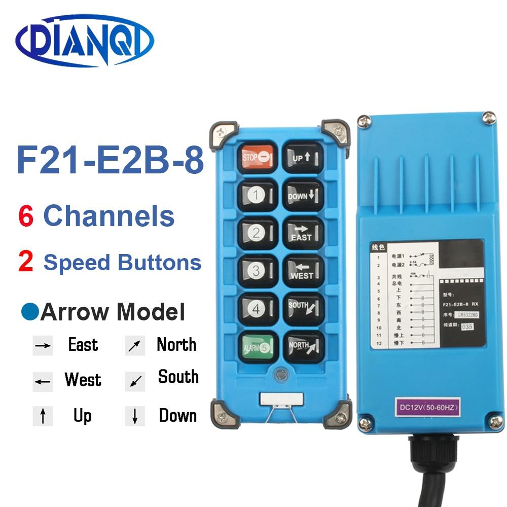 F21-E1B 2S E2B-2 AC 220V 110V 380V 36V DC 12V 24V wireless Industrial remote controller switches Hoist Crane Control Lift Crane
