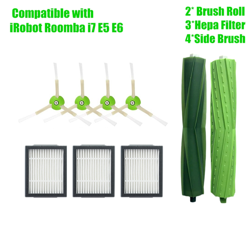 Hepa Filter Side Brush Brush Roll For IRobot Roomba I7 E5 E6 I Series Robot Vacuum Cleaner Replacement Spare Parts Accessories