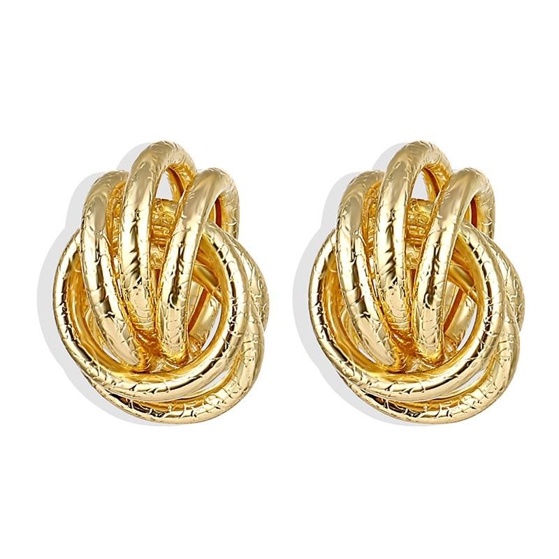 IPARAM, новинка, большие круглые серьги-кольца для женщин, модные, массивные, золотой, в стиле панк, очаровательные серьги, вечерние ювелирные изделия - Окраска металла: IPA0101-3