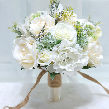 HONGFUYU Bridal Bouquet de mariage Wedding Shooting Props Bridesmaid Artificial Bouquets Wedding Flower buque de noiva D786