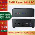TOPTON Mini PC AMD Ryzen R5 3550H R7 2700U Vega 10 Graphic 2 * DDR4 M.2 NVMe игровой компьютер Windows 10 4K HTPC HDMI2.0 DP AC WiFi