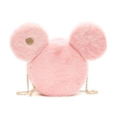 Disney Mickey Mouse Women Bag 2019 Fashion New Handbag Minnie Girl Cute Ear Round Bag Shoulder Messenger Bag