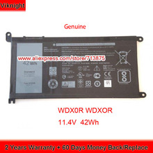 Original 11.4V 42Wh T2JX4 WDXOR WDX0R BatteryสำหรับDell Inspiron 13 5378 7368 13 5368 15 5567 5538 5568 7560 14 7000 7472