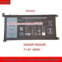 Originele 11.4V 42Wh T2JX4 Wdxor WDX0R Batterij Voor Dell Inspiron 13 5378 7368 13 5368 15 5567 5538 5568 7560 14 7000 7472
