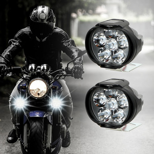 Image 4 - 2x Motorcycles Headlight 6500k White 6 LED Working Spot Light Motorbike Bicycles Scooters Spotlights Modified Auxiliary Fog Lamp