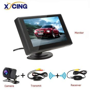 XYCING 4.3 inch Car Monitor TFT LCD Display Cameras Reverse Camera Parking System for Car Rearview Monitors NTSC PAL image