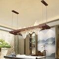 Новая китайская модель комнаты светодиодный подвесной светильник Гостиная Кабинет чайная комната светодиодный подвесные лампы для рестор...