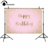 Allenjoy photocall sfondi ritratto porta rosa shimmer golden sands pastello festa di compleanno foto sullo sfondo fotografica