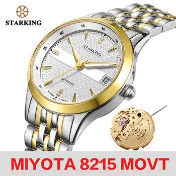 STARKING Women Mechanical Watch MIYOTA Movt Automatic Self-wind Wristwatch Fashion Lady Dress Bracelet Calendar Watches Feminino - discount item  27% OFF Women's Watches