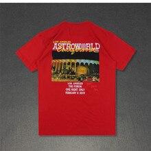 Travis Scott Mens Summer Designer Tshirts Crew Neck Short Sleeve Fashion Homme Clothing Astroworld LA Casual Apparel