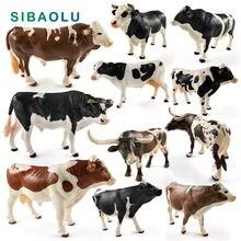 Новинка Имитация Большой коровы ферма бык Мул фигурка модель