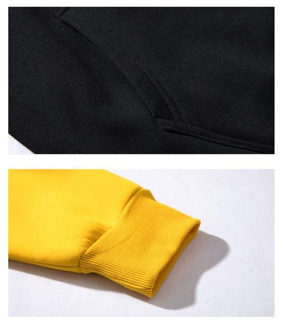 Men Women Hoodies set Fashion Casual Print pumba Long Sleeve Splice  Sweatshirt Autumn Winter Warm Thick Hip-hop Style Hoody set 6