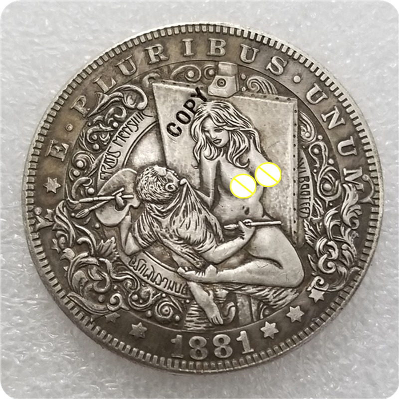 Тип № 31 _ Хобо никелевая монета 1881-CC Морган копия доллара монеты-копия памятных монет